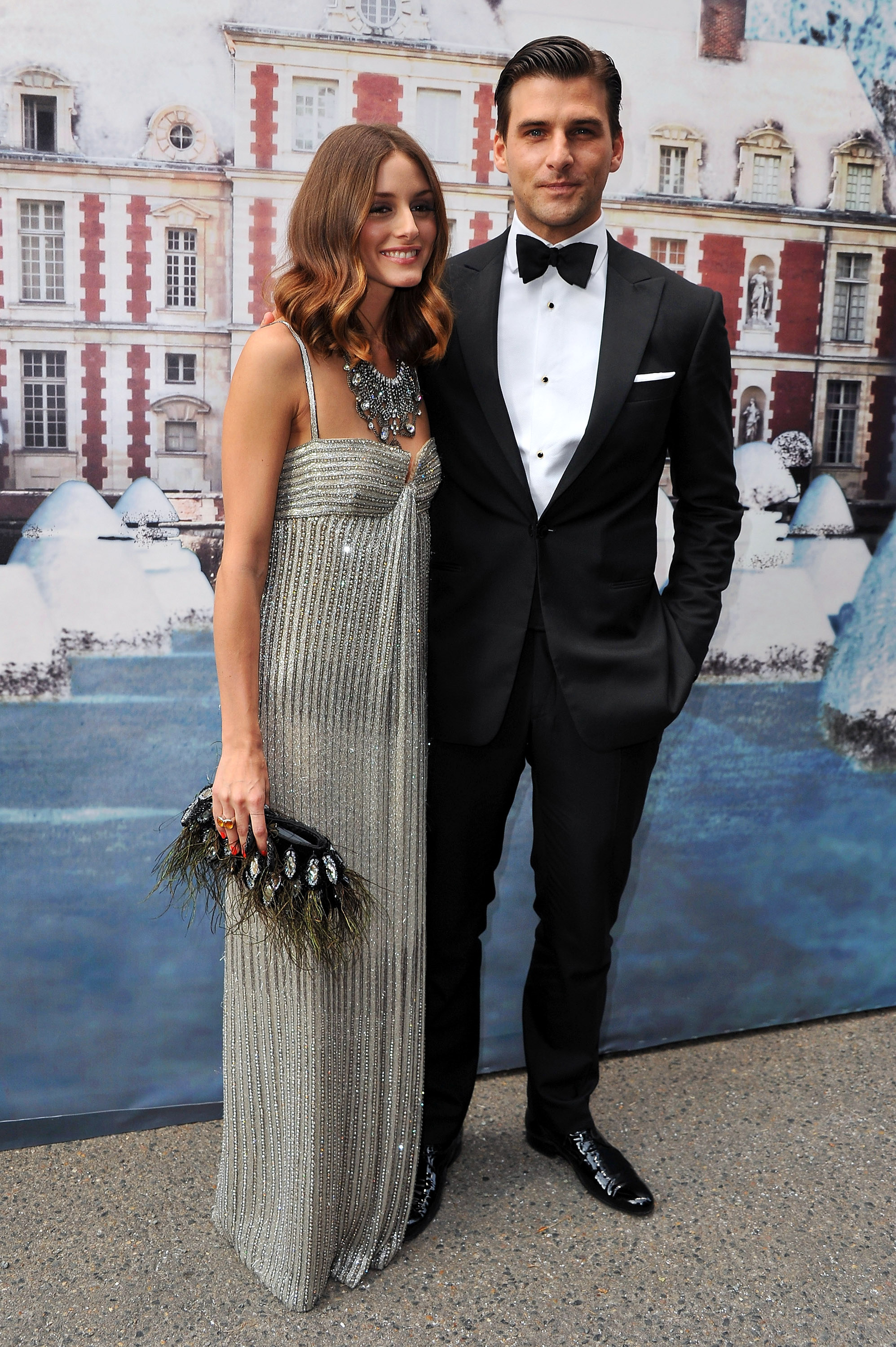 Olivia Palermo and boyfriend Johannes Huebl arrived together at the ball.