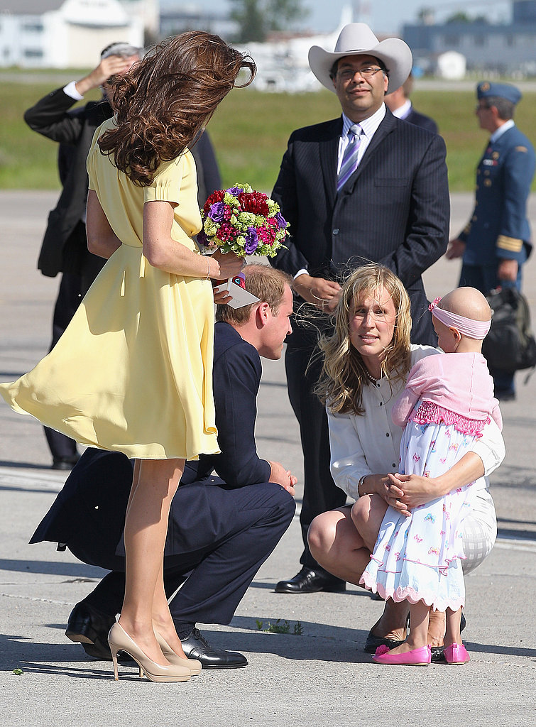 Kate Middleton and Prince William spoke to a young cancer patient in Calgary.