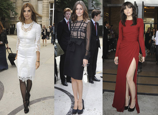 Celebrities at Elie Saab, Jean Paul Gaultier and Valentino Paris Haute Couture Shows; Olivia Palermo, Daisy Lowe & Anne Hathaway