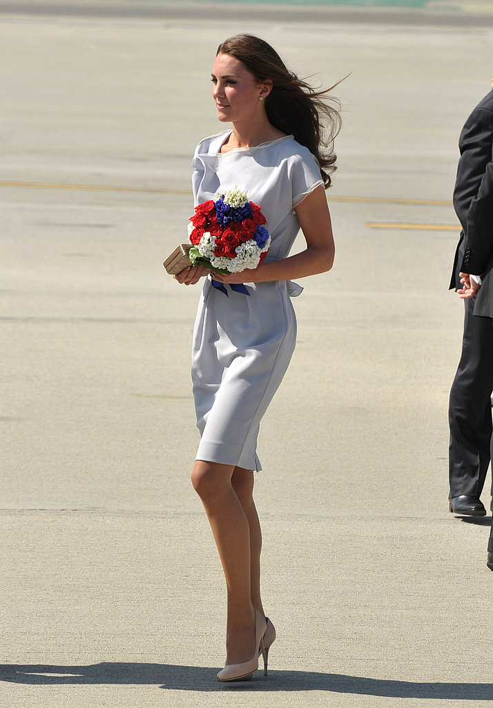 Kate Middleton in blue at LAX.