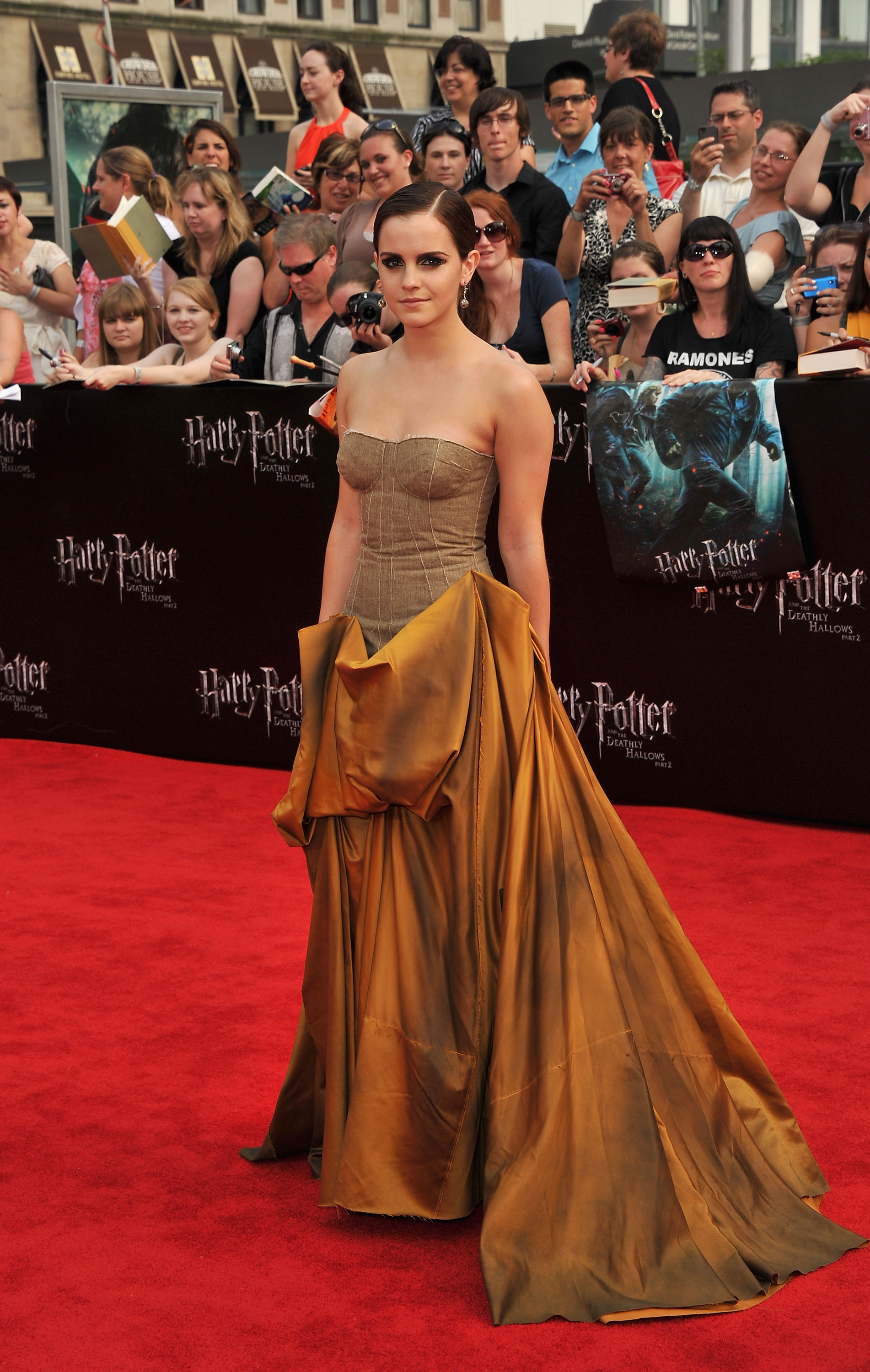 Emma Watson Harry Potter And The Deathly Hallows Part 2 Premiere Dress Emma Watson in Bottega...