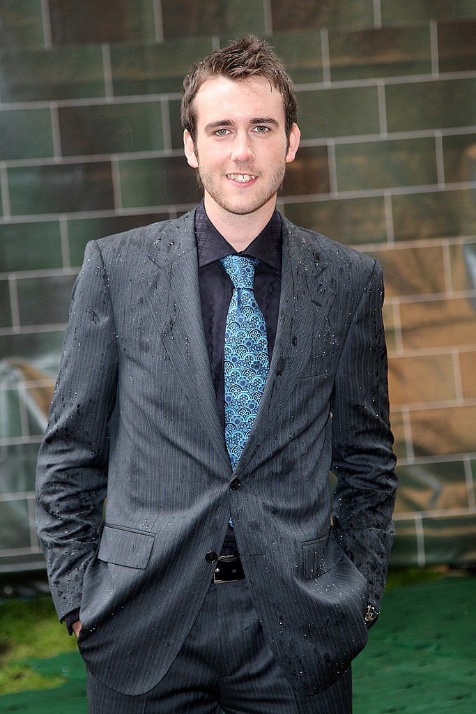 A little rain won't stop Matthew Lewis, here at the European premiere of Harry Potter and the Order of the Phoenix.