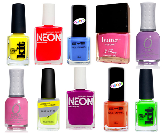 10 of the Best: Neon Nail Polishes