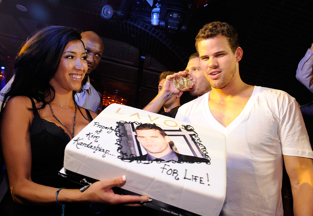 Kris Humphries was presented with a cake at Lavo.
