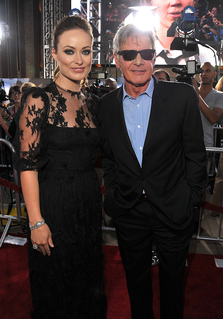 Olivia Wilde and Harrison Ford stood side-by-side for a photo.