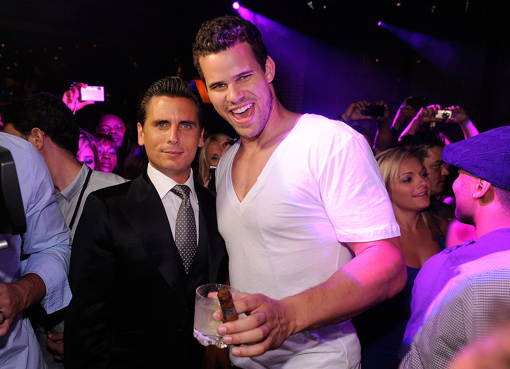 Scott Disick celebrated with Kris Humphries.