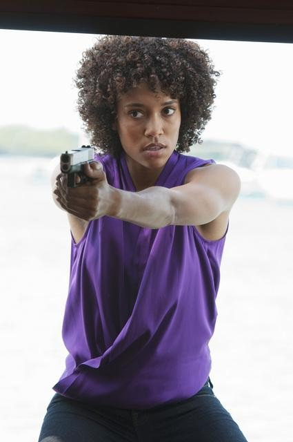 Annie Ilonzeh in ABC&#039;s Charlie Angels.