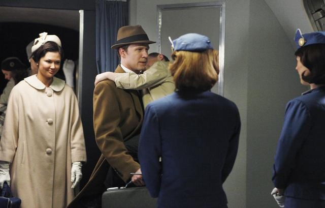 Hope Allen, Will Chase, and Luke Trevisan in ABC&#039;s Pan Am.</p> <p>Photo copyright 2011 ABC, Inc.