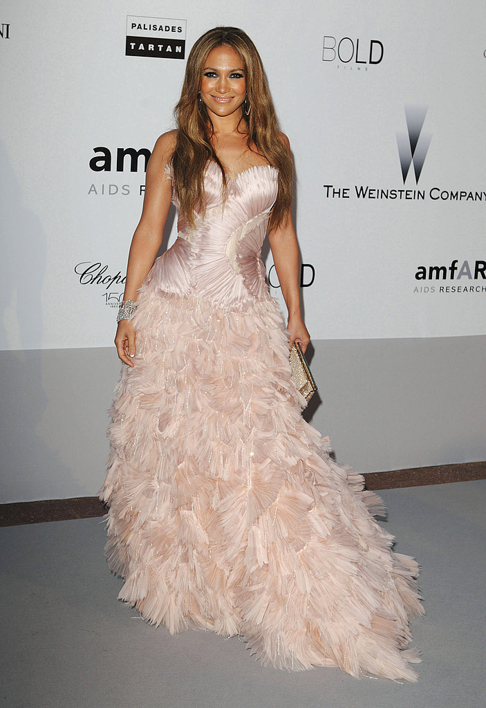A princess-inspired moment in a pinky-hued Roberto Cavalli Couture confection at the 2010 amfAR's Cinema Against AIDS Gala.