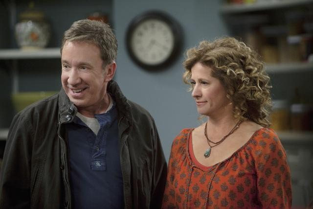 Tim Allen and Nancy Travis in ABC&#039;s Last Man Standing.