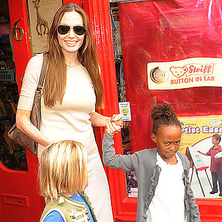 Angelina Jolie Pictures Toy Shopping With Shiloh and Zahara Jolie-Pitt