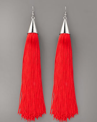 Eddie Borgo Silk Tassel Earrings ($315)