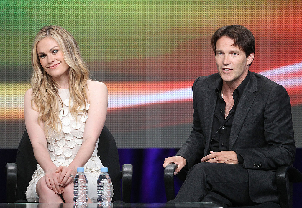 True Blood costars Anna and Stephen fielded questions from the press.