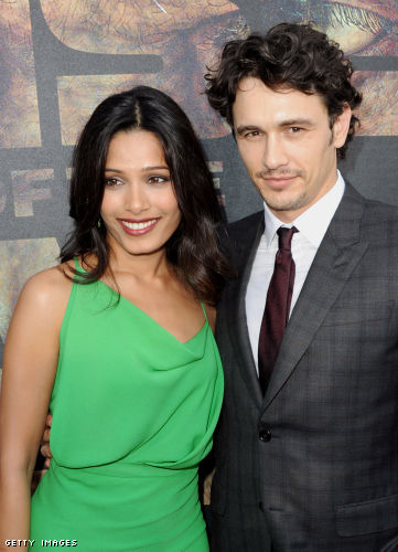 James Franco and Freida Pinto at the 'Rise of the Planet of the Apes' Premiere