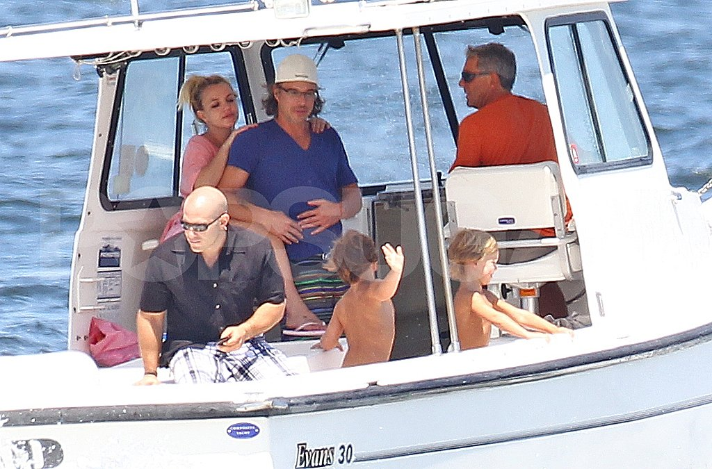 Britney Takes Her Three Boys JJ, SP, and Jason Boating in Long Island