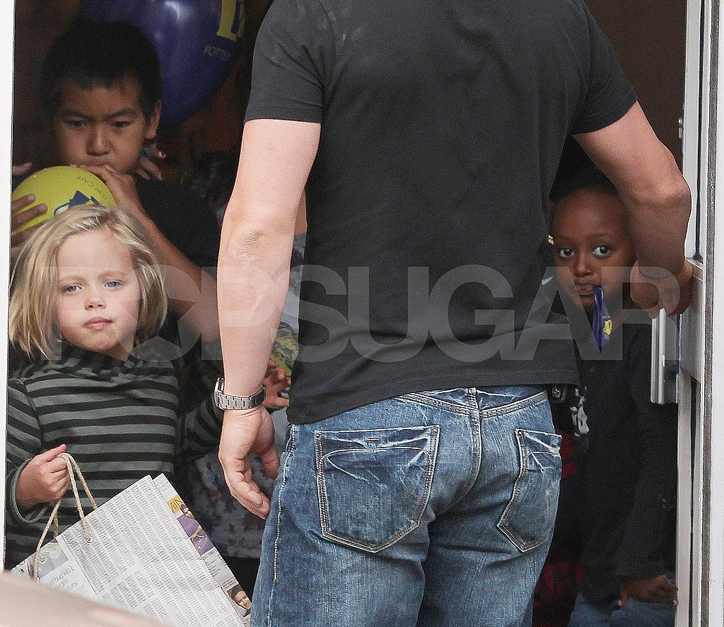 Angelina Jolie Takes Her Little Pirates and Princesses on a Creative Playdate