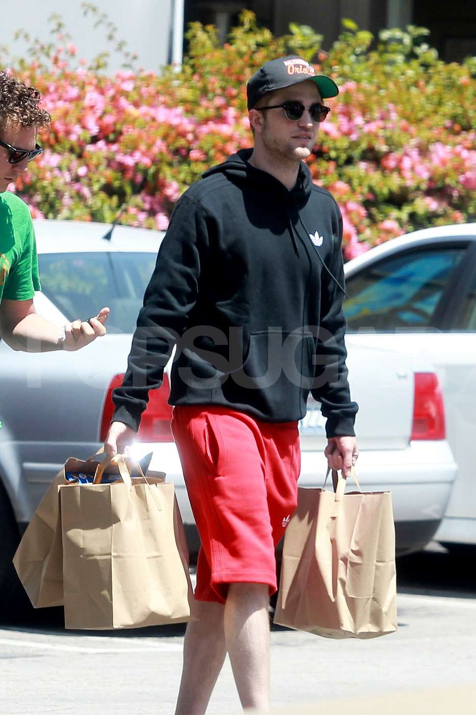Robert Pattinson Steps Out in Sweats and Sandals to Grocery Shop With a Buddy