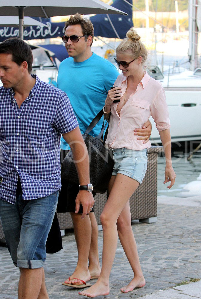 Lara Stone and Her Husband David Walliams Snapped on Vacation in Saint Tropez