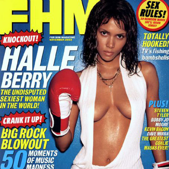 If we had you guess when this photo was taken, you wouldn't bat an eyelash if we told you it was from 2010. Alas, this FHM cover is from 2003, and she doesn't look like she's changed a bit.