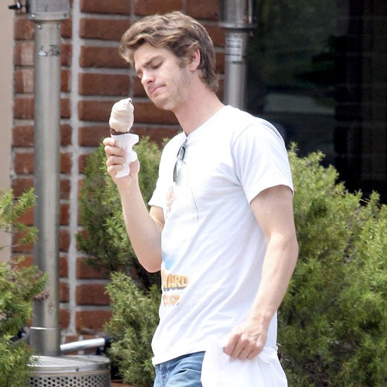 Andrew Garfield stepped out wearing a vintage t-shirt and debuted noticeably shaggier hair.