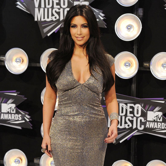 Kim Kardashian on the MTV VMAs Red Carpet