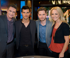 Picture of Taylor Lautner on The 7pm Project with Carrie Bickmore, Charlie Pickering, Dave Hughes For Abduction