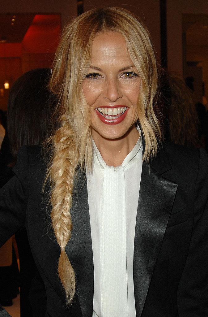 Rachel Zoe wore a chic fishtail at her Beverly Hills event.