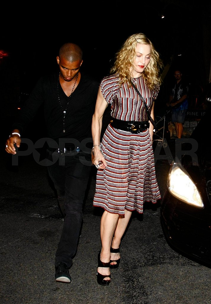 Madonna and Brahim had dinner for two in Antibes.