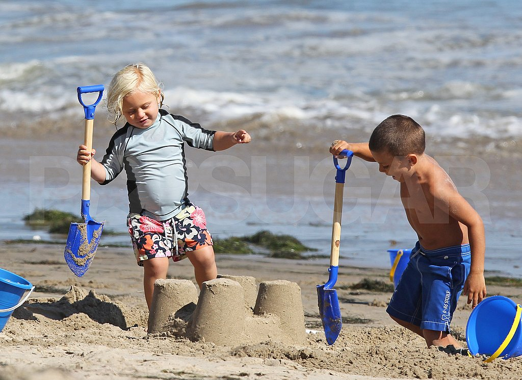 Zuma and Kingston Rossdale play together.