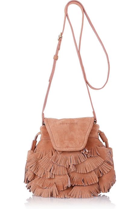 See by Chloé Fluffy Cherry Party Small Suede Shoulder Bag ($295)