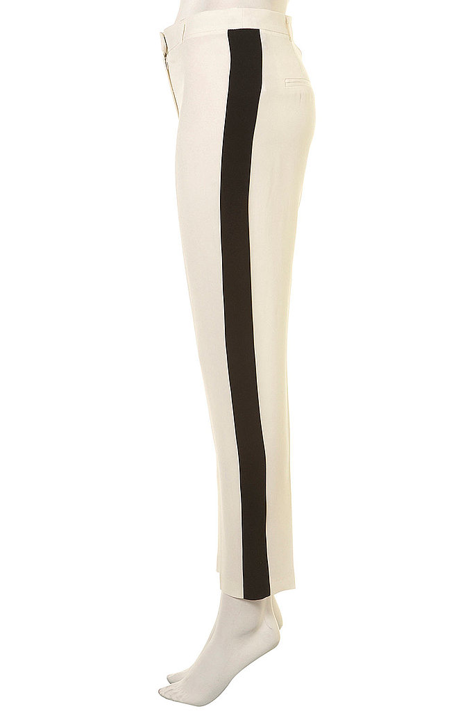 Right on par with Fall's tux trend — and at an affordable price.  Topshop Side Stripe Tapered Trousers ($120)