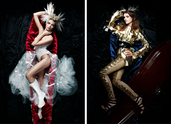See the full Lady Gaga Coffin Inspired Shoot from Australia's Next Top Model  Episode Four Shot by Jason Capobianco