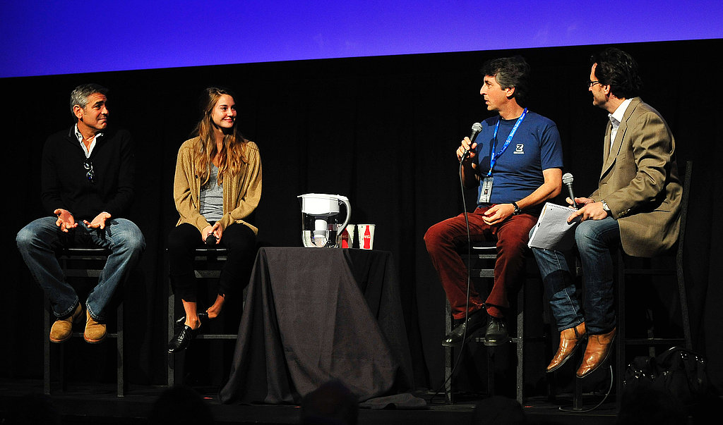 Alexander Payne with Shailene Woodley and George Clooney.