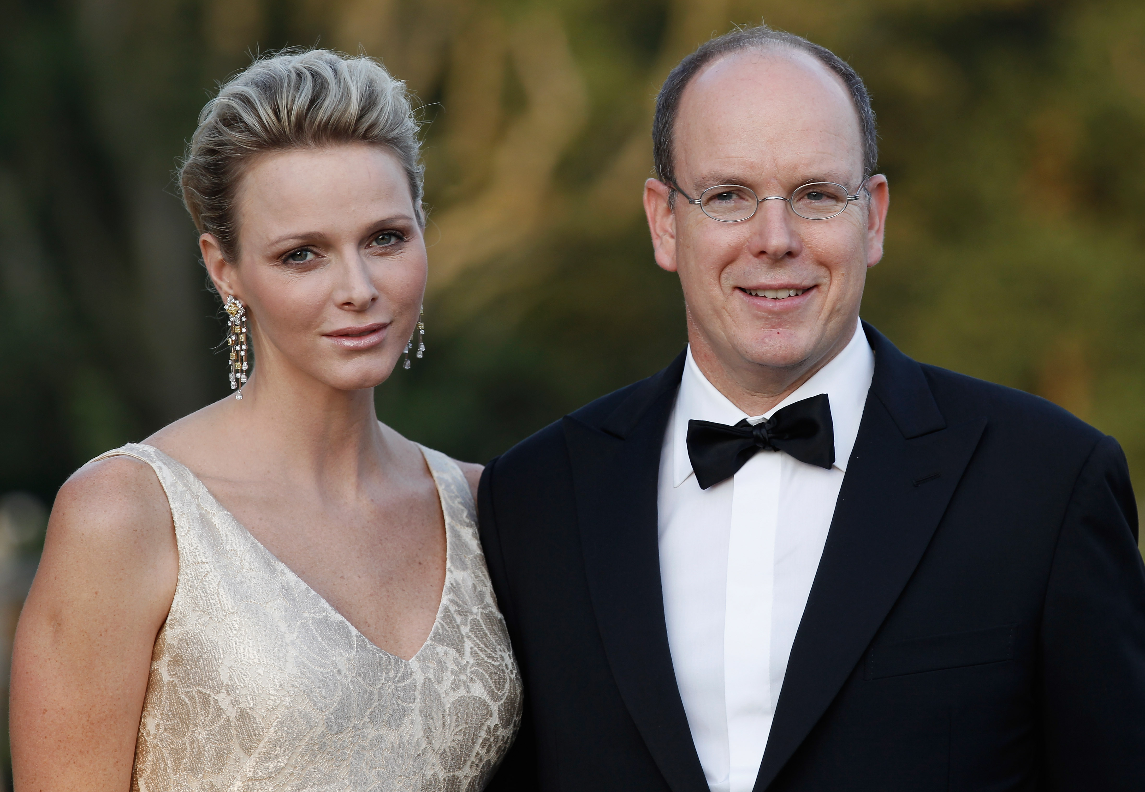 Prince Albert and Princess Charlene of Monaco Pictures at