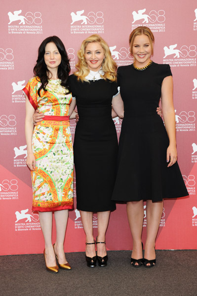 Madonna and Abbie Cornish chose ladylike LBDs while Andrea Riseborough opted for a beautiful print sheath.