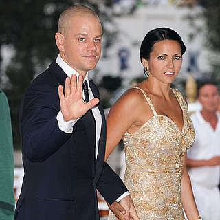 Matt and Luciana Damon at Venice Contagion Premiere Pictures