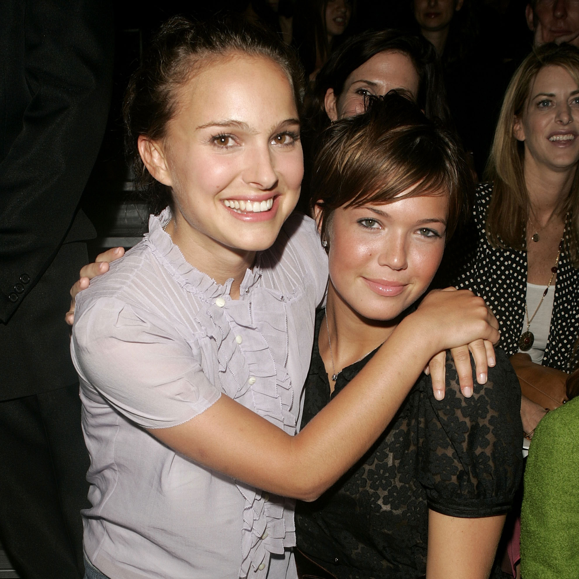 Natalie Portman and Mandy Moore were front and center at the Marc Jacobs show in September 2004.