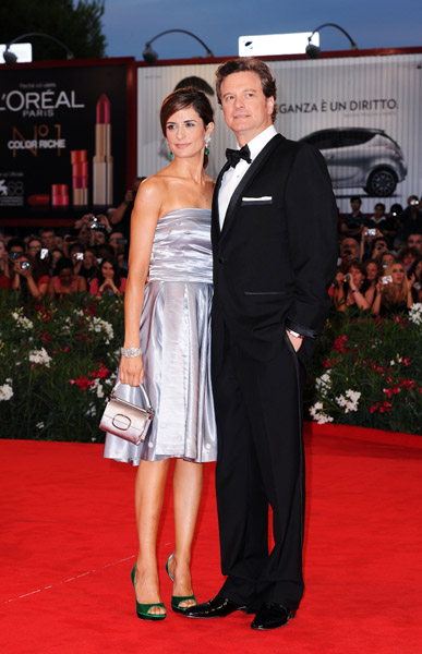 Colin Firth and wife Livia in Venice.
