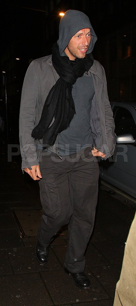 Chris Martin leaves dinner with wife Gwyneth Paltrow.