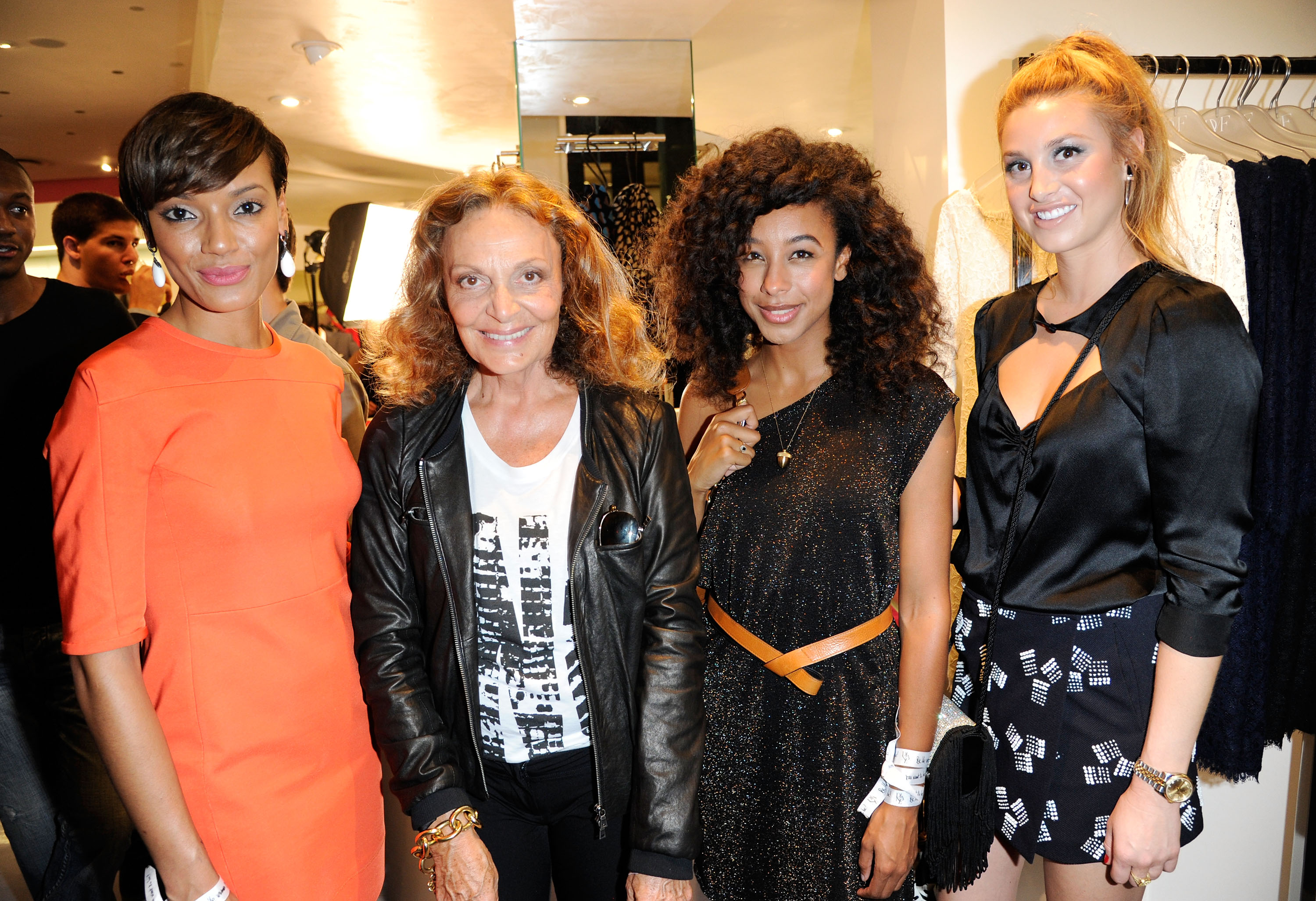 Selita Ebanks and Whitney Port joined Diane von Furstenberg on Fashion's Night Out.