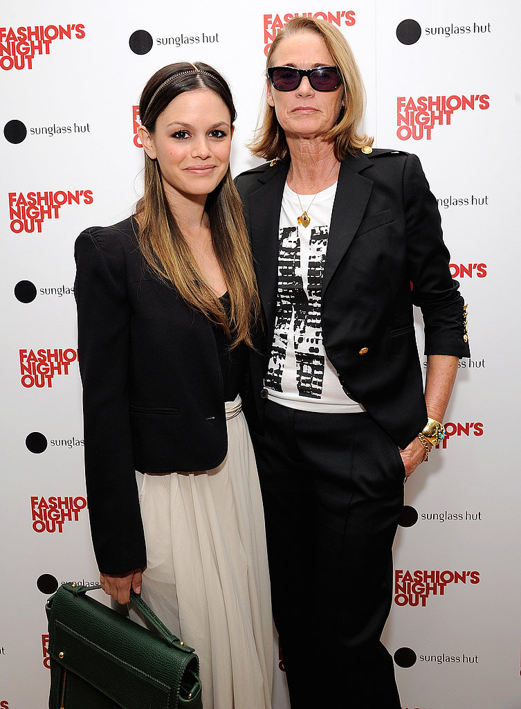Lisa Love and Rachel Bilson on Fashion's Night Out for Sunglass Hut.