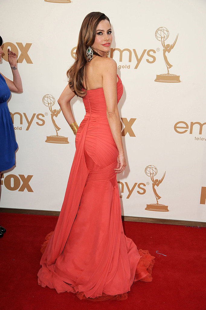 Sofia Vergara Shows Off Her Sexy Curves in Hot Vera Wang