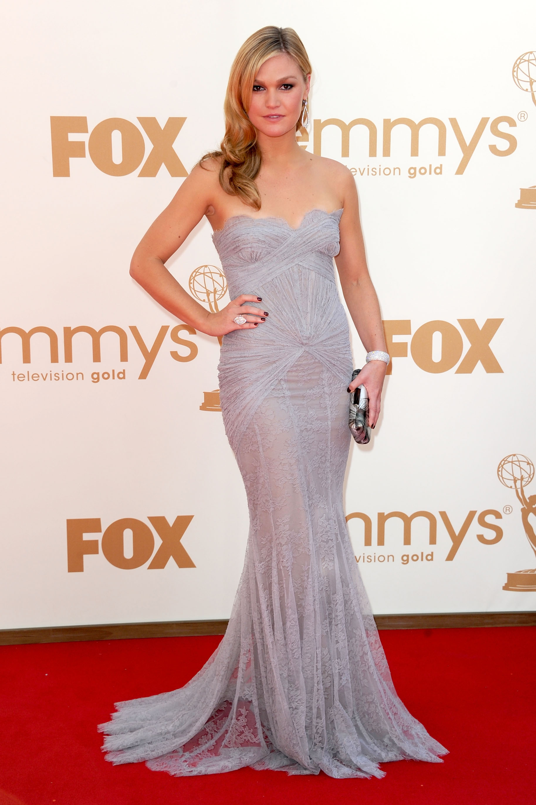 Julia Stiles at the 2011 Emmys.