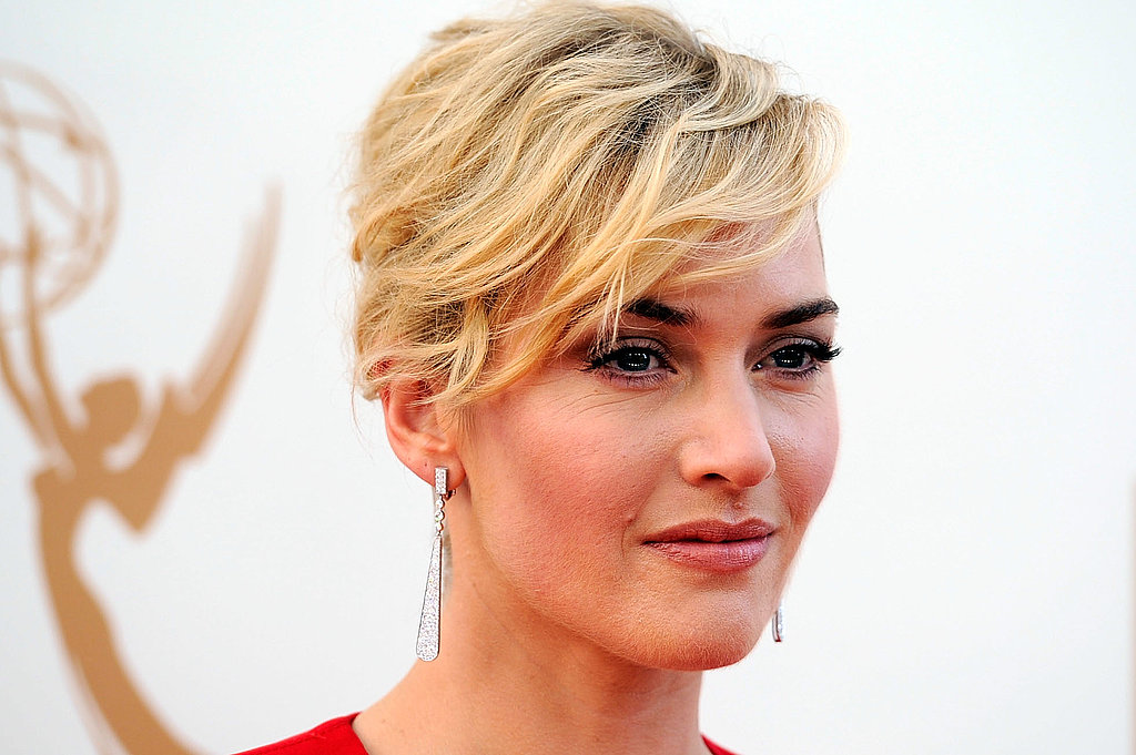 Kate Winslet with her hair up.