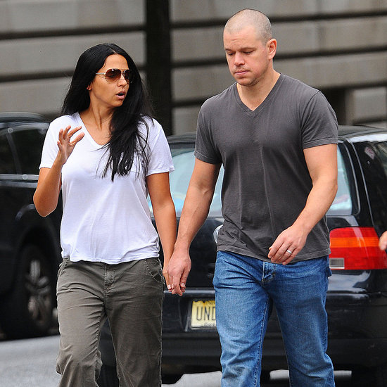 Matt Damon Pictures With Wife Luciana in NYC