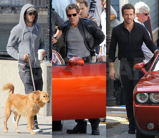 Ryan Reynolds Enjoys a Sunday Stroll With Baxter Then Gets to Work Alongside Kevin