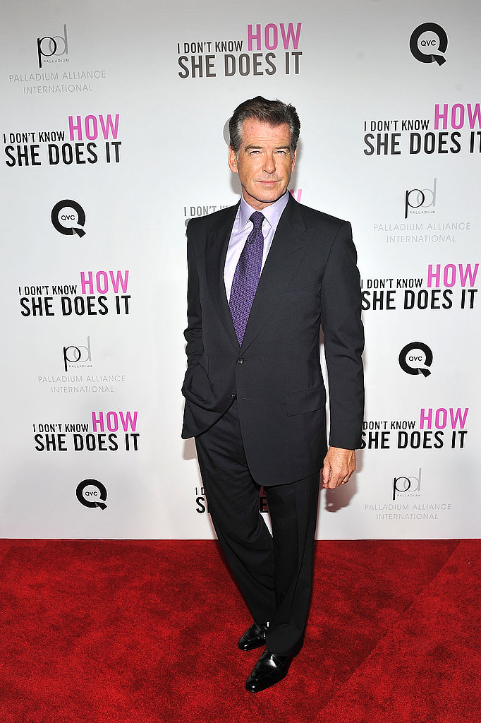 Pierce Brosnan looked dashing at the debut.