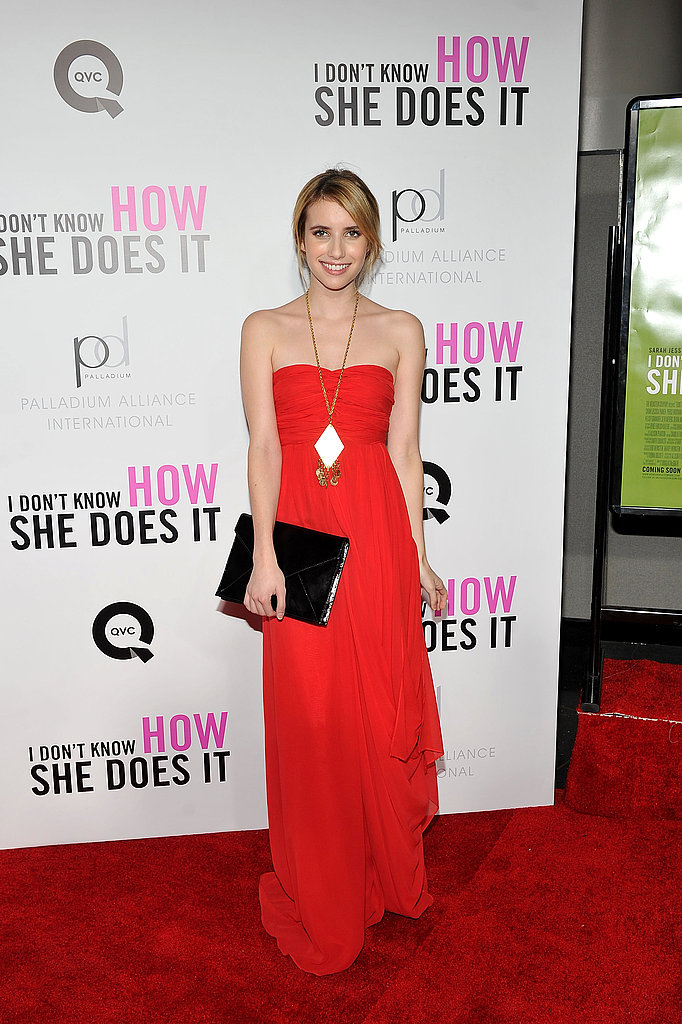 Emma Roberts turned up to see the film.
