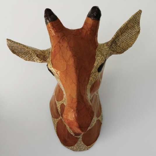 Papier-Mache Animal Head Trend For Nursery