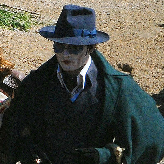 Johnny Depp Pictures in Scary Makeup For Dark Shadows